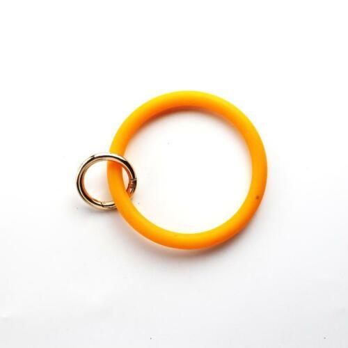 Gel de silice Wear Bracelet Keychain Cercle Poignet Porte-clés Bracelet Unisexe Bijoux
