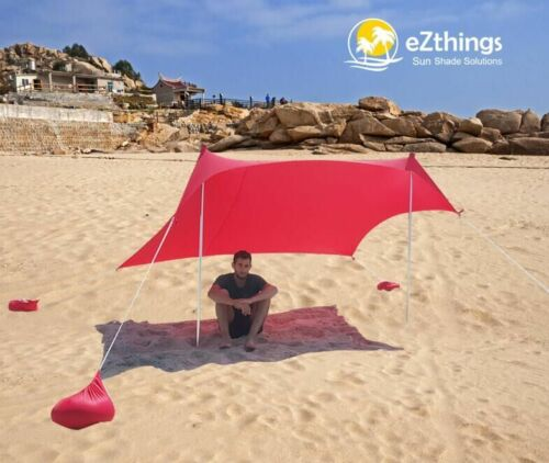 Tent Canopy with Sandbag Anchors Lightweight Sun shade Protection Beach Shelters