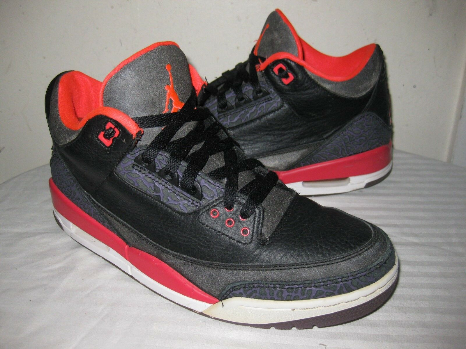 Nike Air Jordan 3 III Retro Crimson 136064-005 Mens Shoes Size 43 / 9.5