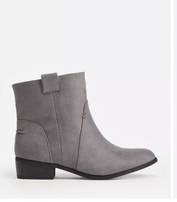 Justfab Ladies Maesha Boots Suedette Grey Boots Size