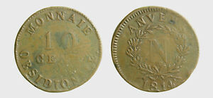 s594-1-French-States-ANTWERP-10-Centimes-1814-moneta-ossidionale