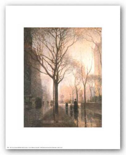 CITYSCAPE ART PRINT Plaza After the Rain Paul Cornoyer 8x10