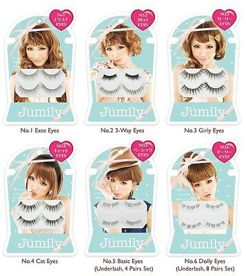 Jumily Japan Trendy False Eyelash Kit (2 pairs) by Maiko Takahashi