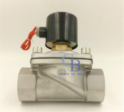 """AC 110 V G3//4/"""" Acero Inoxidable 304 solenoide válvula eléctrica normalmente abierto"""