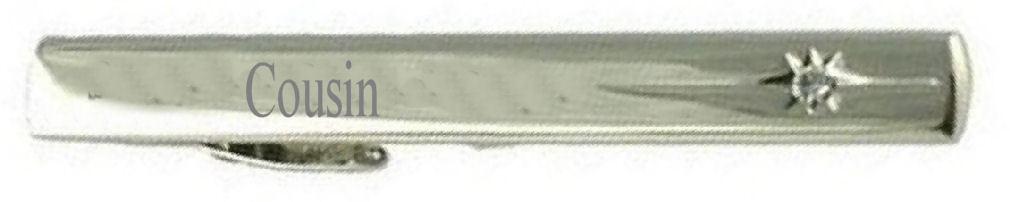 Cugino Matrimonio titolo Tie Clip Bar-RICORDO incisa incisa incisa finestra di messaggio de6787