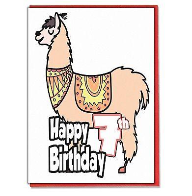 Grinch 7th Birthday Card Girls Boys Son Daughter Grandaughter Grandson Friend