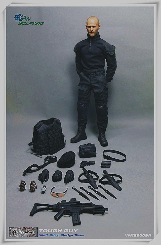 WOLFKING 1/6 SCALE TOUGH GUY WK89009A LEE CHRISTMAS EXPENDABLES JASON STATHAM