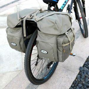 Bicycle Carrier Bag Rear Rack Trunk Bike Luggage Back Seat Reflective Storage