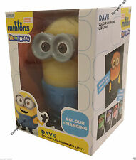 DESPICABLE ME DAVE MINIONS COLOUR CHANGING LED NIGHT LIGHT BEDROOM LAMP