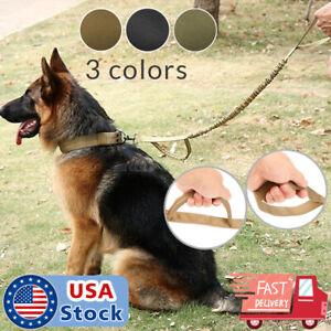 NEWRetractable-nylon-rope-Dog-Leash-Tactical-K9-for-large-dog-Heavy-duty-coupler
