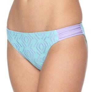 SO-Juniors-Size-XS-S-M-L-XL-Aqua-Purple-Cutout-Hipster-Bikini-Bottom-Swim-NEW