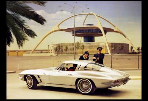 sports car 1963 CORVETTE STINGRAY LAX 24X36 inch poster