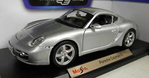 Maisto-1-18-Scale-46629-Porsche-Cayman-S-Silver-diecast-model-car