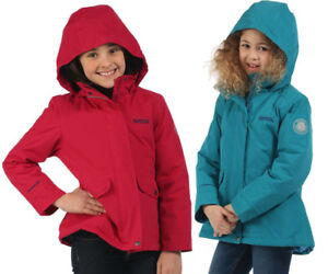 Regatta-Spinney-Kids-Girls-Quilted-Winter-Waterproof-Jacket-RRP-50