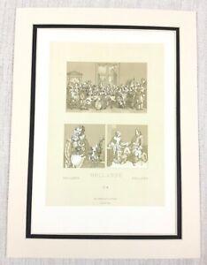 1888 Antico Stampa 17th Secolo Olandese Interno Scena Sociale Storia Holland