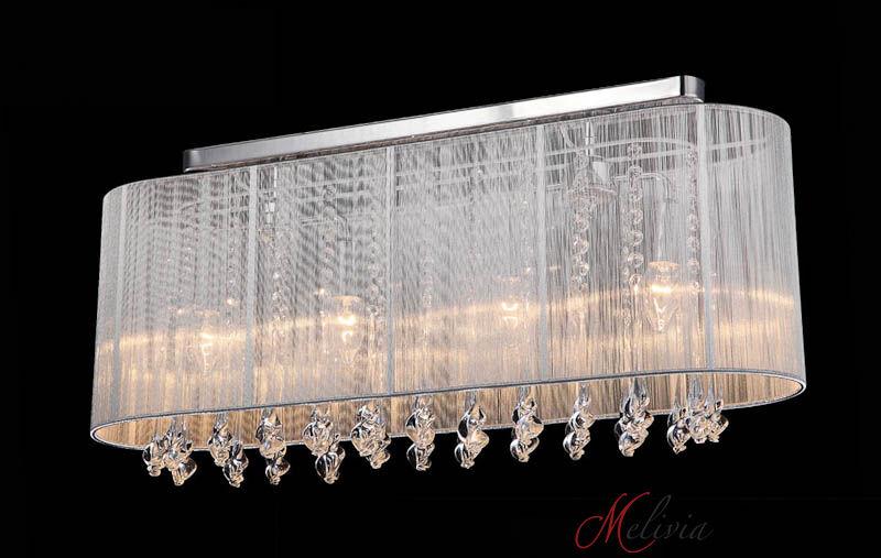 Plafoniere Moderne In Tessuto : Plafoniera ø70cm bianca tessuto cristallo lang