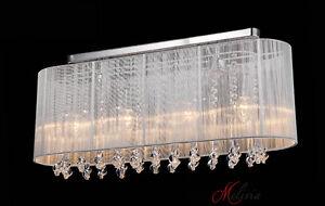 Plafoniere Di Cristallo : Tessuto soffitto cm bianco cristallo lungo plafoniera w e
