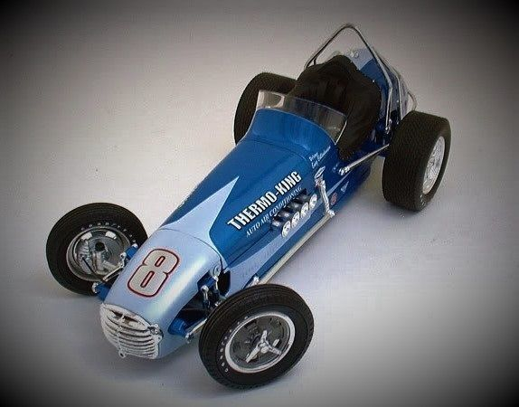 Racer Rare 1950s Vintage Race Car Sport GP F1 Indy 500 1960s Midget Metal Model