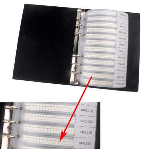 Details about  /0402 SMT//SMD Components Sample Book 4250PCS 5/% Resistor Capacitor Assorted Kit