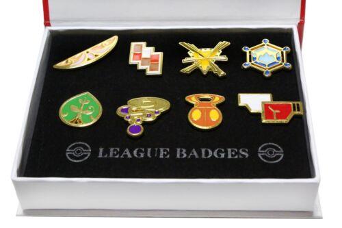 Pokemon Kalos 8 Metal League Gym Badge Pin Pip Gen 6 Cosplay Prop Collection Set