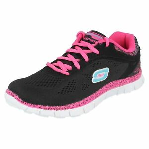 Skechers Style Sport rosa nero Island Trainers Girls A6qCRC