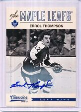 2012/13 PANINI CLASSICS SIGNATURES ERROL THOMPSON AUTO