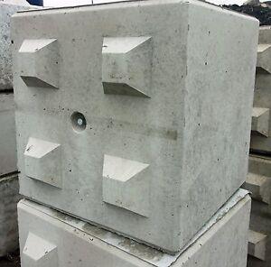 large interlocking concrete block 800 x 800 x 800 ebay. Black Bedroom Furniture Sets. Home Design Ideas