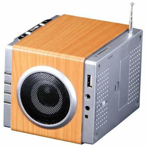 Classic Style Alarm Clock Radio MP3 Stereo System with SD Card Reader /& USB