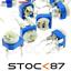 201 1525-200R# 1 à 10 pcs 200 ohms potentiomètre PCB RM065 Carbon trimpot