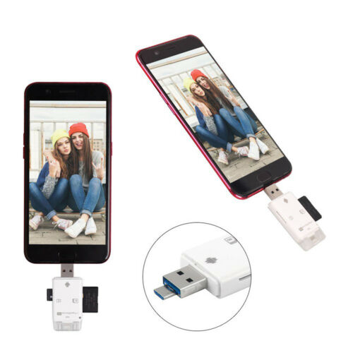 3 in 1 TF SD Card Reader Adapter fit iPhone//ipad// MAC// PC// Android Device STOCK
