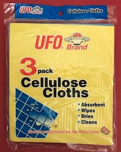 3×3 Pack Cellulose Cloths-Abosrbe<wbr/>nt_Sponge/Wipe<wbr/>s/Dries/Cleans<wbr/>- USA SELLER