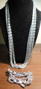 vintage-sarah-coventry-set-necklace-bracelet-silver-tone-chain-70s
