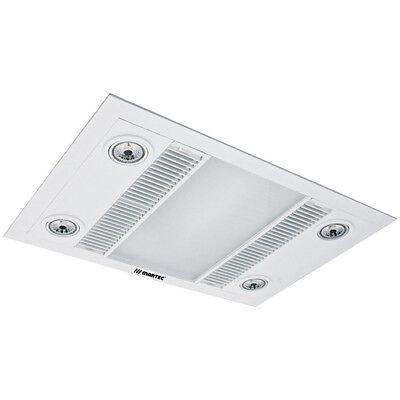 NEW Martec Linear 3-In-1 Bathroom Heat Light Exhaust Fan - MBHL1000W WHITE