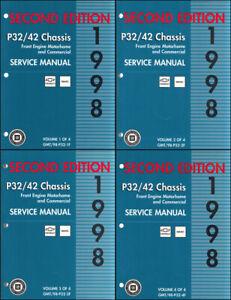 1998 Chevy GMC P32 P42 Shop Manual -2nd Edition Stepvan ...