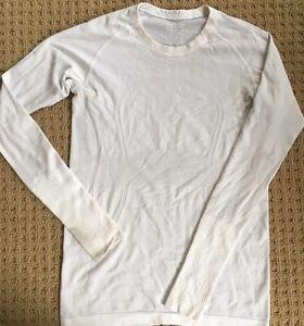 Lululemon run swiftly long sleeve tech shirt white size 8 for Long sleeve technical running shirt