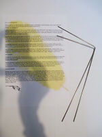 1 SET L SHAPE DOWSING~DIVINING RODS WICCA PAGAN ST STEEL +LAMINATED INSTRUCTIONS