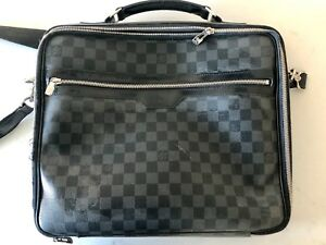 466bbe3f254 Details about **Authentic** Louis Vuitton Black and Grey Laptop Bag  (pre-owned)