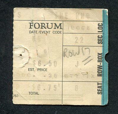 Modellflugzeuge 1973 The Who Lynyrd Quadrophenia Tour Konzert Ticket Stumpf Los Angeles Ca Strengthening Waist And Sinews