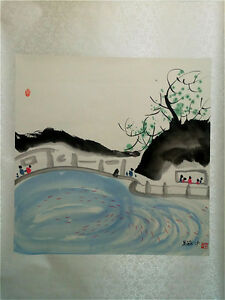 Excellent-Chinese-100-Hand-Painting-amp-Scroll-Landscape-By-Wu-Guanzhong-WEDJ
