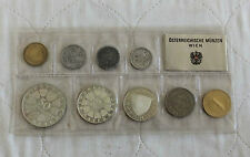 AUSTRIA 1970 9 COIN PROOF SET WITH INNSBRUCK UNIV 50 SHILLING - sealed pack