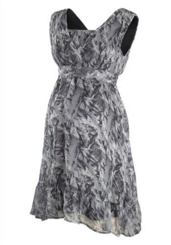 Mamalicious chifón vestido premamá vestido talla S-XL blando y bajando negro talla 291