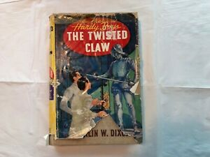 Vintage-Hardy-Boys-The-Twisted-Claw-HC-with-Damaged-DJ-1954A-24