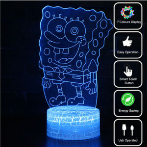 Mermaid 3D Visual Night Light 7 Color LED Desk Table Lamp Creative Kid Xmas Gift