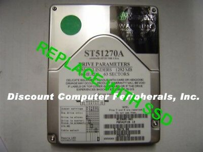 """SSD Seagate ST31010A 3.5/"""" IDE Drive Replace with this SSD 2GB 40 PIN IDE Card"""