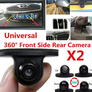 2x 360 degree waterproof car front side rear view reverse backup camera parking 6749023983795 ebay. Black Bedroom Furniture Sets. Home Design Ideas