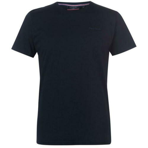 Mens T Shirts Pierre Cardin Crew Tops Plain Cotton Tee Short Sleeve M L XL XXL