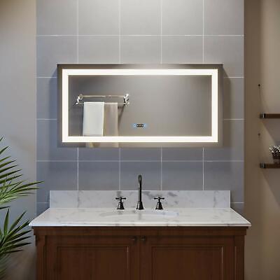 SUNNY SHOWER LED Bathroom Wall Mirrors 48\