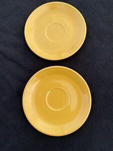 Vintage Fiesta Saucers Fiesta Ware Yellow Saucers Vintage Fiesta Ware Set of 2 Vintage Homer Laughlin
