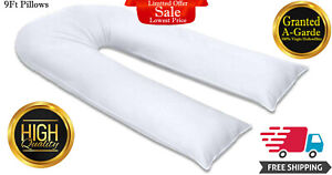 U-Shape-Pillows-9FT-Large-Full-Body-Back-Support-Maternity-Pregnancy-Comfort-New