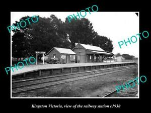 OLD-LARGE-HISTORIC-PHOTO-OF-KINGSTON-VICTORIA-THE-RAILWAY-STATION-1930